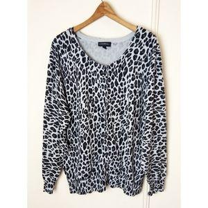 LaneBryant Animal Print Button Up Cardigan leopard